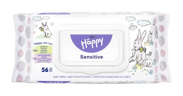 Bella Baby Happy Feuchttücher Sensitive 56 Stück Verpackung