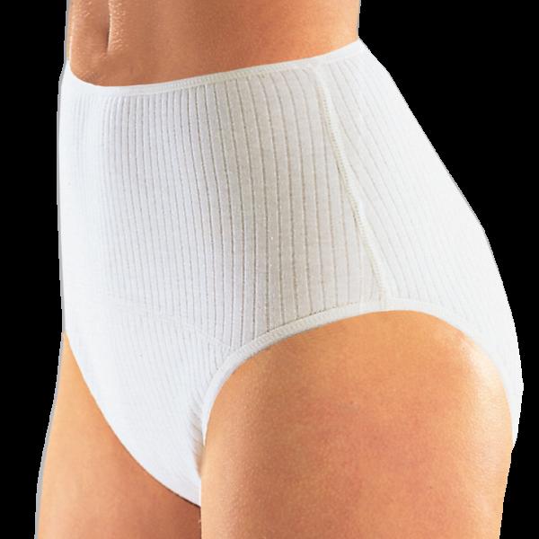 Suprima Baumwoll-Slip 1275 weiß Schutzhose Damen angezogen