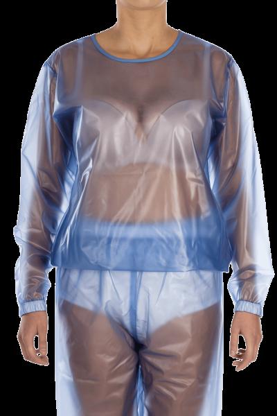 Suprima Schlafanzug-Oberteil PVC 9611-011 blau-transparent 1 Stück Frontansicht