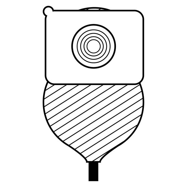 Stomocur® Urostomiebeutel Safe MicroSkin® USM13F Piktogramm