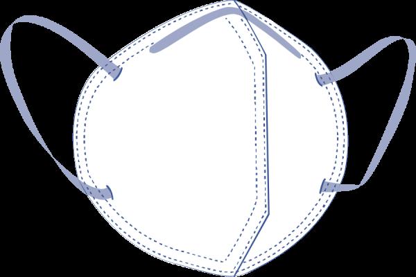 Zhende Medical Atemschutzmaske FFP2 NR N9501F 20 Stck. Piktogramm