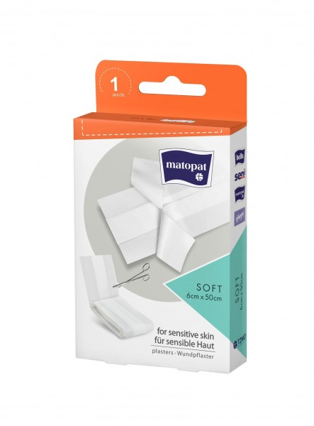 Matopat Wundpflaster soft Pflaster 1 Stück Verpackung