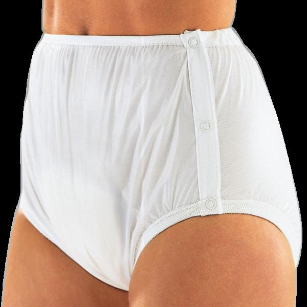Suprima PVC-Slip 1222 weiß Schutzhose Damen Herren angezogen