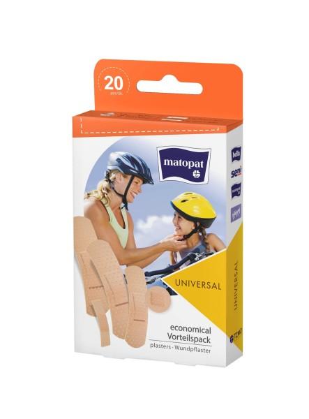 Matopat Wundpflaster-Set universal Pflaster 20 Stück Verpackung