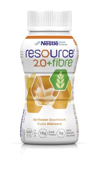 Resource® 2.0 + Fibre Trinknahrung aprikose 200 ml Ansicht