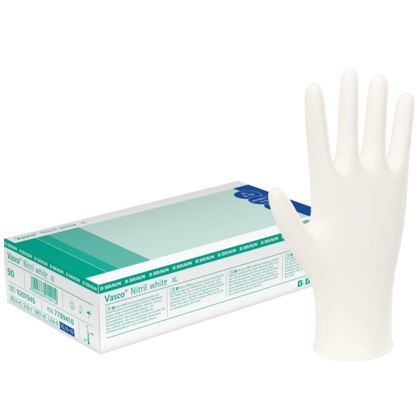 Vasco® Nitril white Einmal-Handschuhe 100 Stück Ansicht