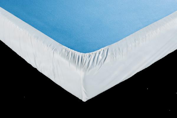 Suprima Spannbetttuch PVC 3066 weiß Bettschutz bezogen