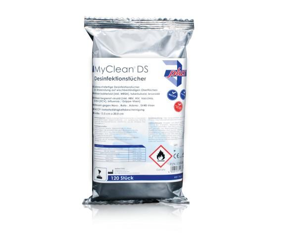 MyClean® DS Desinfektionstücher neutral 120 Stück Verpackung