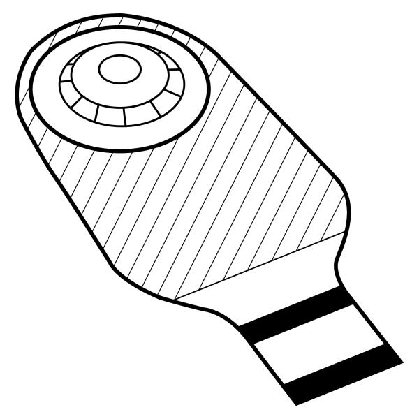 Stomocur® Ileostomiebeutel Protect medium konvex IPH Piktogramm