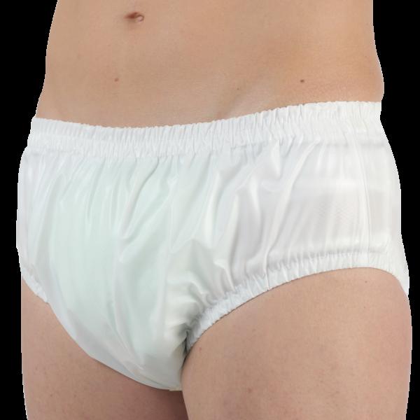 Suprima PVC-Slip 1207 weiß Schutzhose Damen Herren angezogen