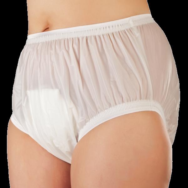 Suprima PVC-Slip 1206 weiß Schutzhose Damen Herren angezogen