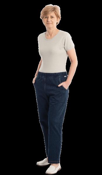 Suprima CareActive Pflegeoverall 4510 jeans-melange Damen Herren Vorderseite