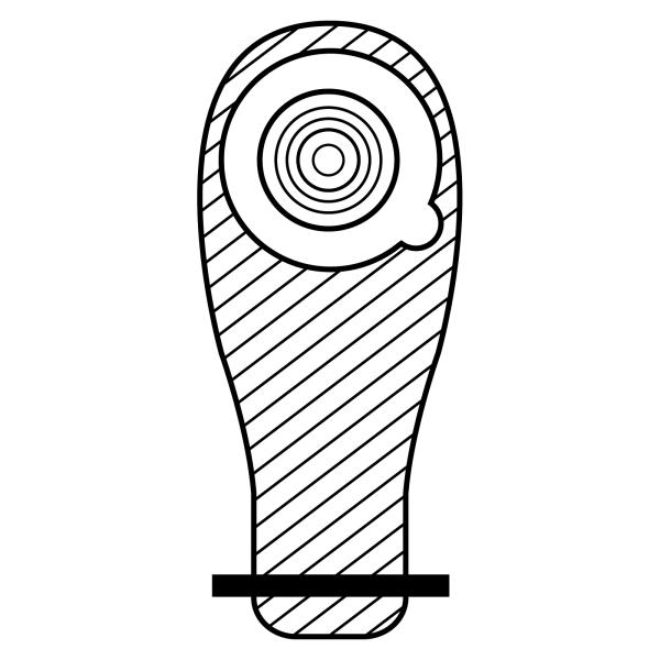 Stomocur® Ileostomiebeutel Protect small hautfarbend IM 3610 C Piktogramm