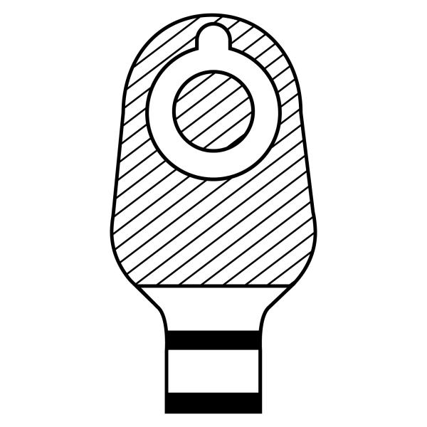 Stomocur® Soft Ileostomiebeutel VIHF3445CW Piktogramm