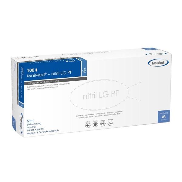 MaiMed® nitril LG PF Handschuhe blau Verpackung