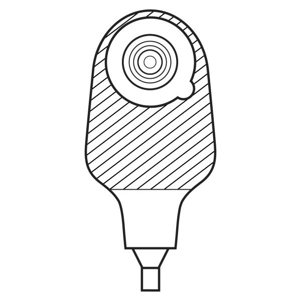 Stomocur® Drainagebeutel Protect DP5020 transparent Piktogramm
