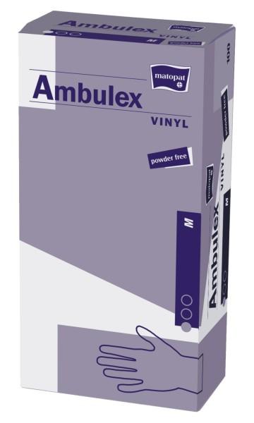 Ambulex Vinyl Einmal-Handschuhe transparent 100 Stück Verpackung