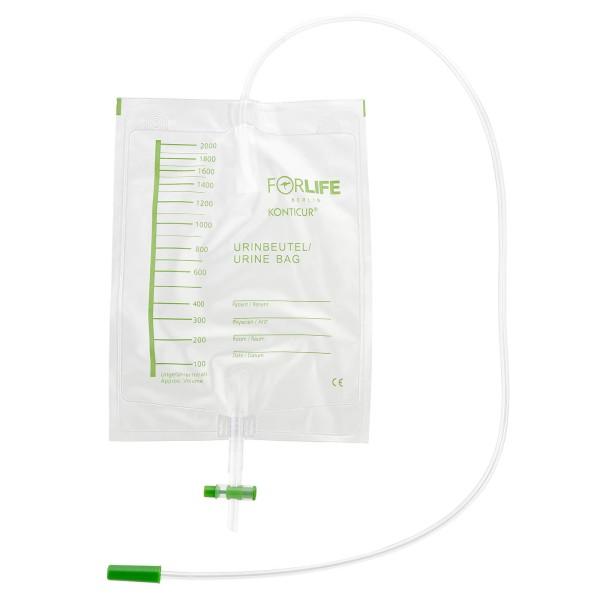 Konticur® Bettbeutel mit Ablauf unsteril 2000 ml 90 cm Vorderseite