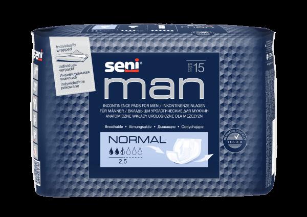 Seni Man Normal Einlagen Herren 15 Stück Verpackung