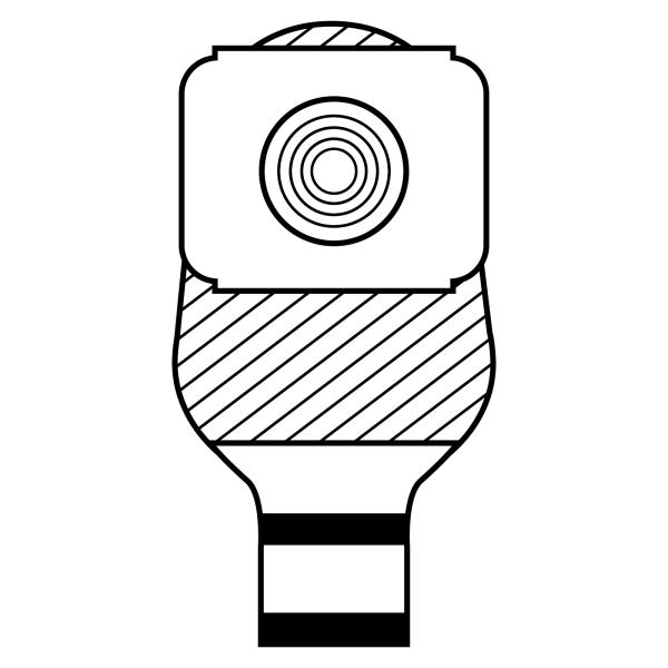 Stomocur® Ileostomiebeutel Protect MicroSkin® Ring IPMH Piktogramm