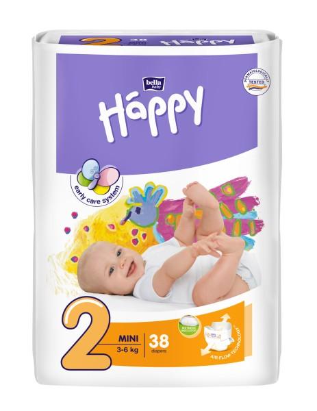 Bella Baby Happy Mini 2 Windeln 38 Stück Verpackung