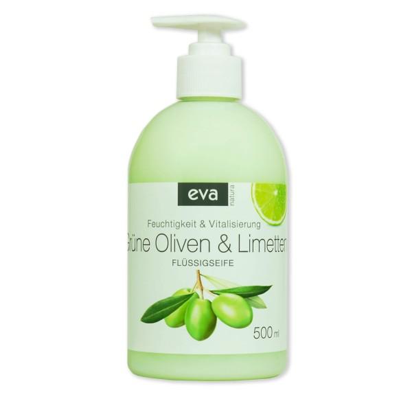 Eva Natura Flüssigseife Olive & Limette 500 ml Ansicht