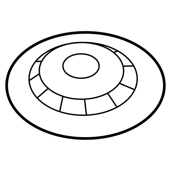 Stomocur® Clic Basisplatte konvex XCFK4515V2 Piktogramm