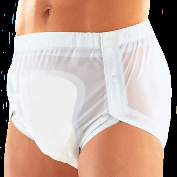 Suprima PVC-Slip 1250 weiß Schutzhose Damen Herren angezogen