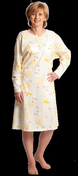 Suprima Pflegehemd 4070 gelb Damen angezogen