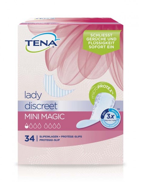 Tena Lady Discreet Mini Magic Einlagen Damen 34 Stück Verpackung