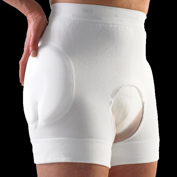 Suprima Safehip® Classic-Open Slip weiß Damen Herren angezogen