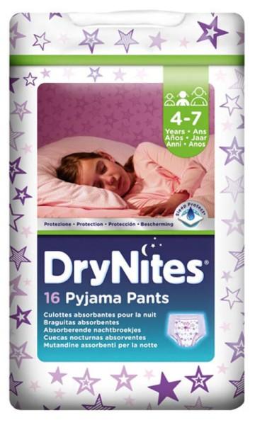 Huggies® DryNites® Pants 4-7 Jahre Mädchen 16 Stück Verpackung