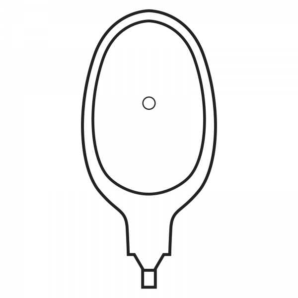 Stomocur® Drainagebeutel extra mit Ventil SDE2XS hautfarbend Piktogramm