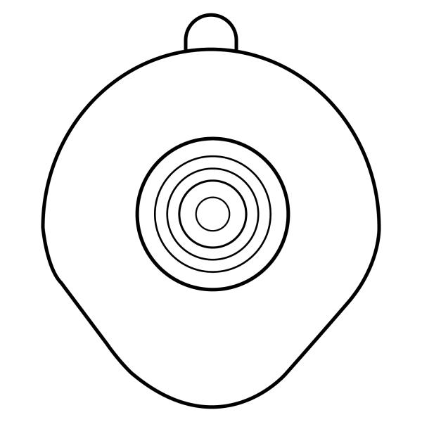 Stomocur® Clic Basisplatte CFL 4515 Piktogramm
