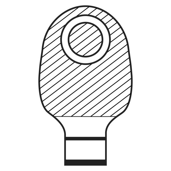 Stomocur® Clic Ileostomiebeutel small hautfarbend VIMDF 4545 CW Piktogramm