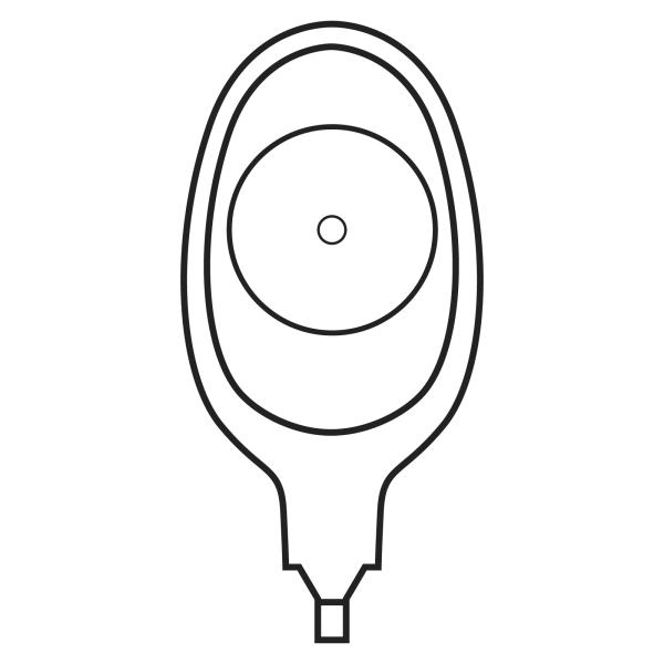 Stomocur® Drainagebeutel extra mit Zugriff SDE2XSA transparent Piktogramm