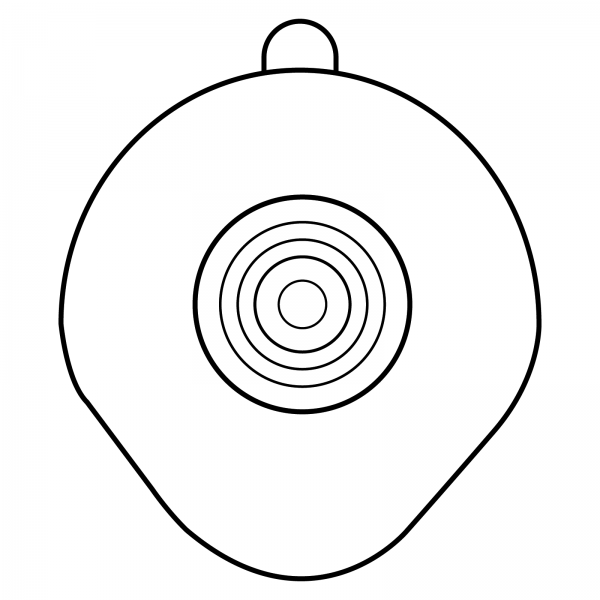 Stomocur® Clic Basisplatte konturiert UFL 4515 Piktogramm