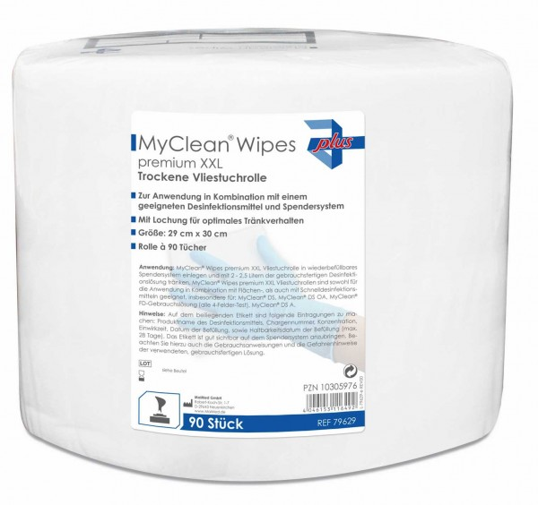 MyClean® Wipes premium Vliestücher large / xx-large Verpackung