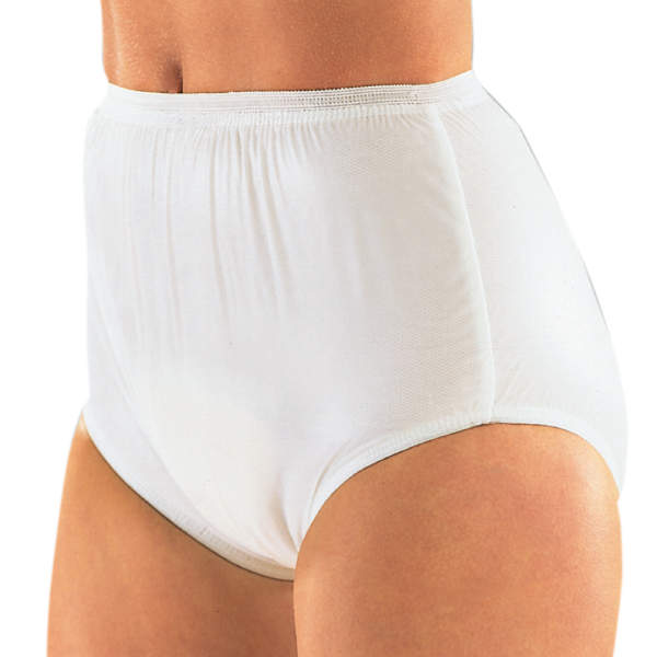 Suprima PVC-Slip 1223 weiß Schutzhose Damen Herren angezogen