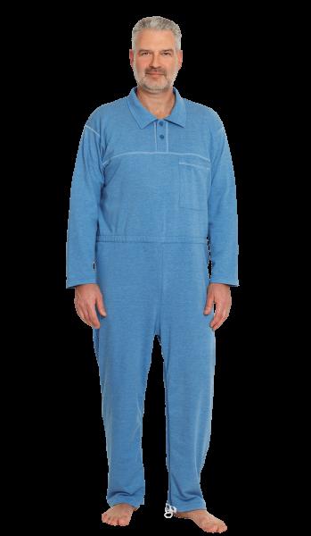 Suprima CareFunction Pflegeoverall 4681 jeans-melange Damen Herren angezogen