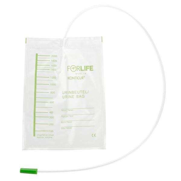 Konticur® Bettbeutel ohne Ablauf unsteril 2000 ml 90 cm Vorderseite