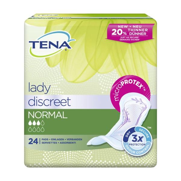 Tena Lady Discreet Normal Einlagen Damen 24 Stück Verpackung