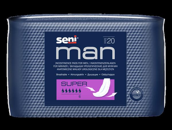 Seni Man Super Einlagen Herren 20 Stck. Verpackung