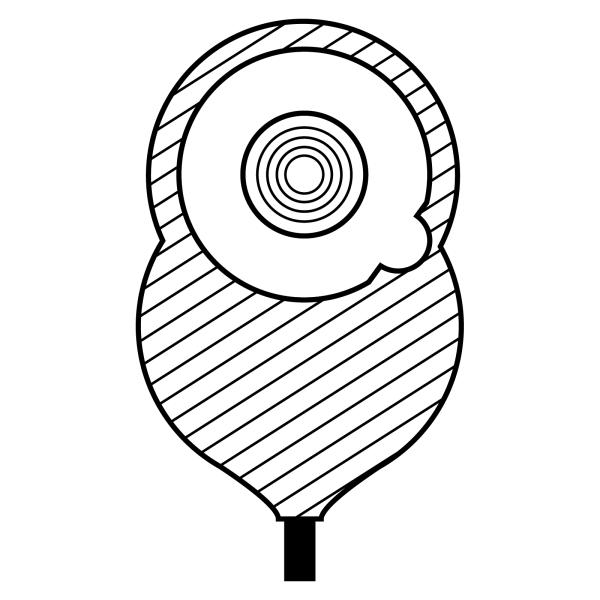 Stomocur® Urostomiebeutel Safe USH15F Piktogramm