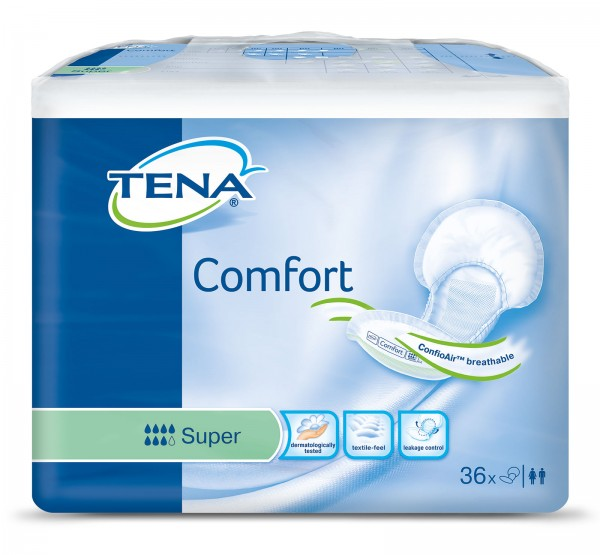Tena Comfort Super Vorlagen Damen Herren 36 Stück Verpackung