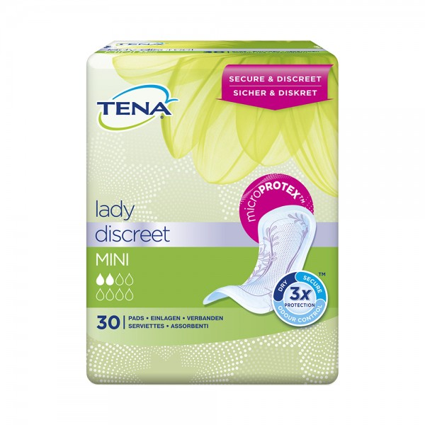 Tena Lady Discreet Mini Einlagen Damen 30 Stück Verpackung