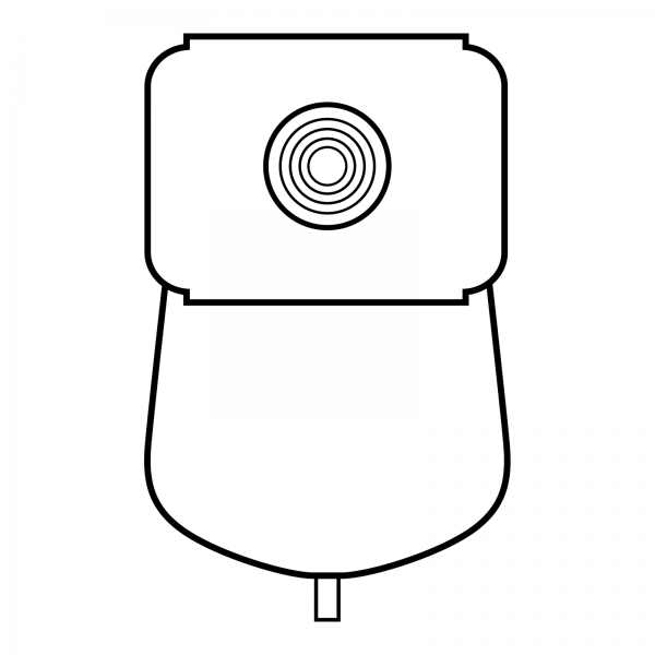 Stomocur® Urostomiebeutel Safe MicroSkin® Ring USMH10F Piktogramm