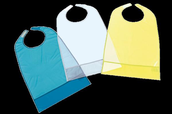 Suprima Ess-Schürze PVC 5083 blau-transparent hell-blau gelb Ansicht