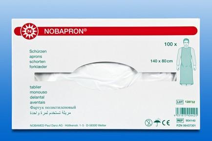 NOBAPRON® Einmal-Schürzen weiß 100 Stck. Verpackung