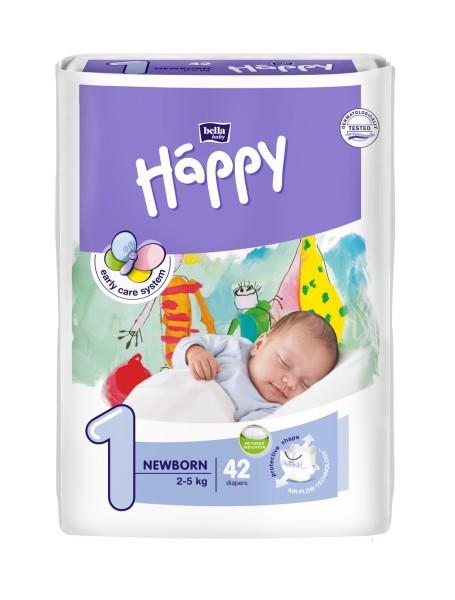 Bella Baby Happy Newborn 1 Windeln 42 Stück Verpackung